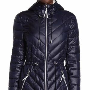 Dark Blue Puffer Jacket by French Connection